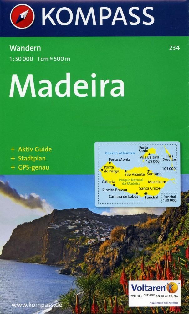 Madeira turistatérkép (WK 234) - Kompass