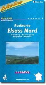 Elsass Nord kerékpártérkép - Esterbauer