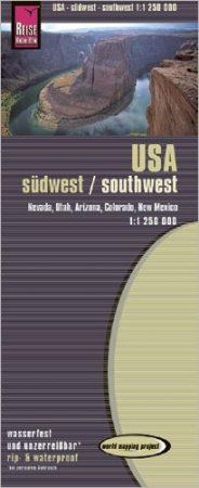 USA: Délnyugat (7) térkép - Reise Know-How
