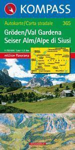Gröden / Seiser Alm panorámatérkép - Kompass AK 365