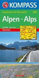 Alpok panorámatérkép - Kompass AK 350