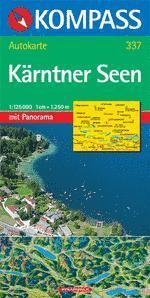 Karintiai tóvidék panorámatérkép - Kompass AK 337