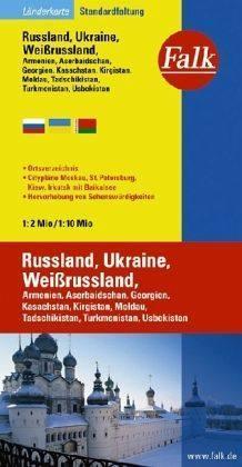 Oroszország / Ukrajna / Belarusz autótérkép - Falk
