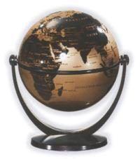 Csodagömb (10 cm) - arany gömb, barna talp 881082